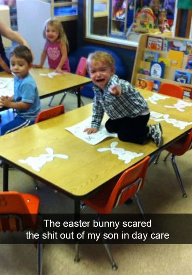 Bunny Breakdown is listed (or ranked) 4 on the list Hilarious Snapchats Of Wild Kids In Their Natural Habitat