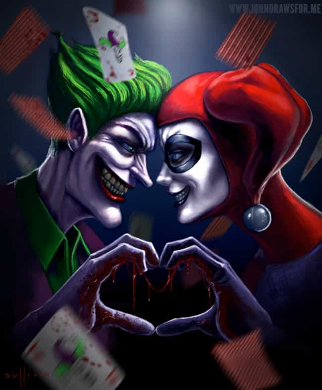Sweet Yet Scary is listed (or ranked) 3 on the list 10 Amazing Pieces Of Joker And Harley Quinn Fan Art
