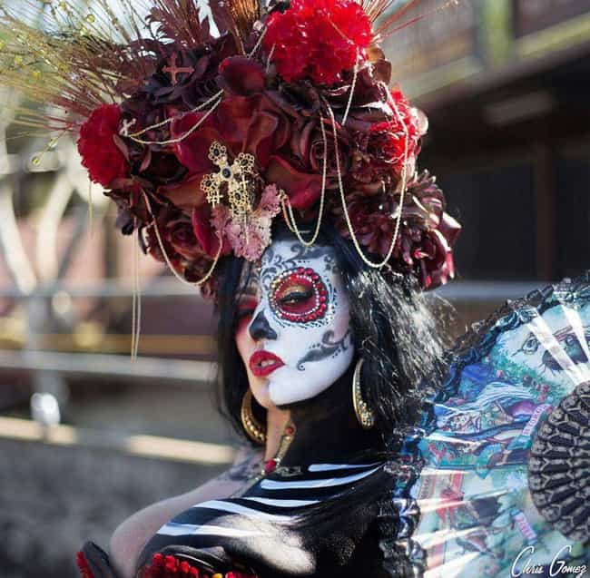 Red And Dead is listed (or ranked) 3 on the list Best Dia De Los Muertos Sugar Skull Makeup Looks