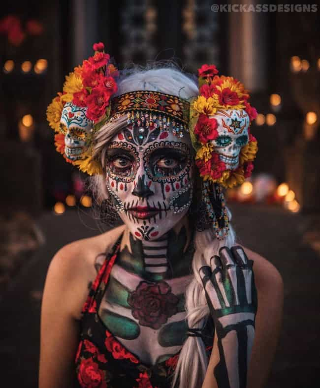 Three Skulls Are Better ... is listed (or ranked) 1 on the list Best Dia De Los Muertos Sugar Skull Makeup Looks