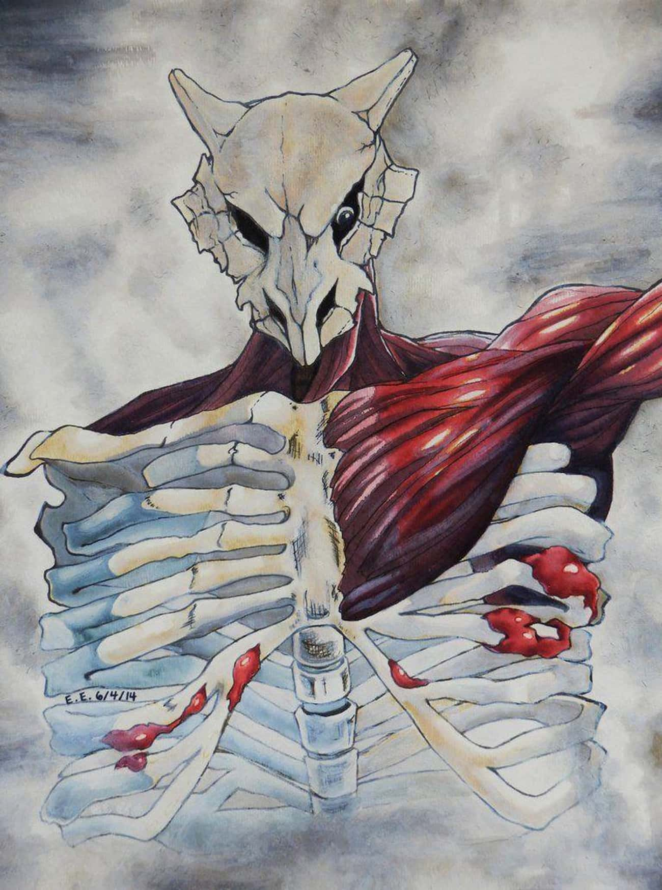 Colossal Cubone is listed (or ranked) 1 on the list This Artist Creates Horrifying Pokemon And Attack On Titan Crossovers