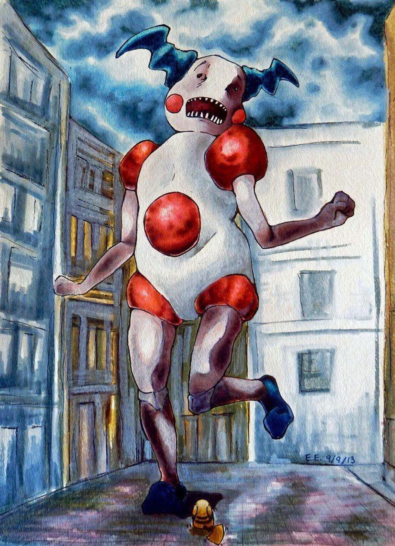 Mr. Mime's Rampage is listed (or ranked) 2 on the list This Artist Creates Horrifying Pokemon And Attack On Titan Crossovers