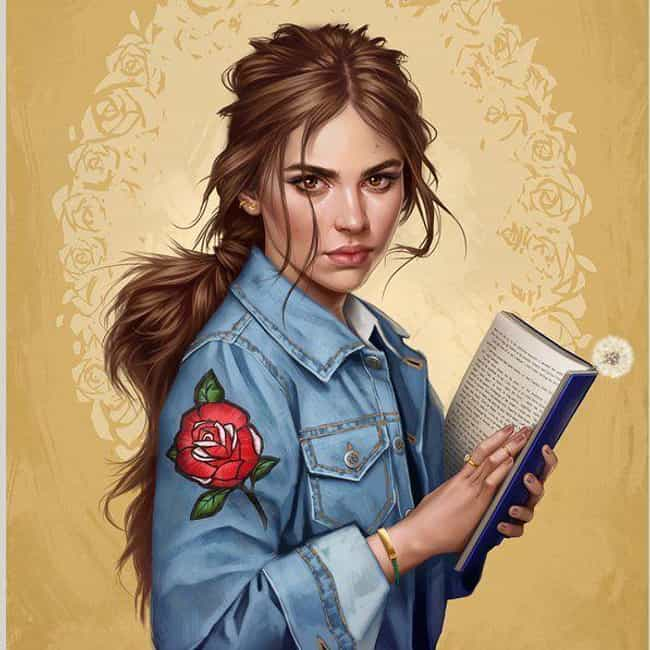Belle Can Give Face To T... is listed (or ranked) 2 on the list This Artist Reimagines Your Favorite Female Disney Characters As Modern-Day Women