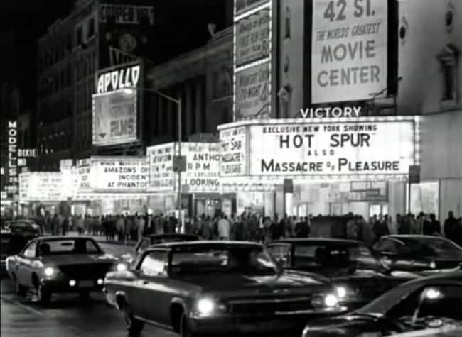 A Theater Promoted The Exclusi... is listed (or ranked) 3 on the list A Harrowing Peek Through The Grimy, Crime-Infested Streets of 1970s New York City