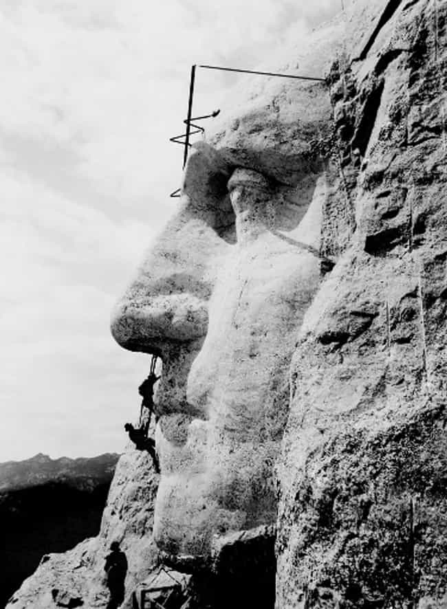 Ninety Percent Of The Ca... is listed (or ranked) 3 on the list The Construction Of Mount Rushmore Is Way More Interesting Than You Ever Realized