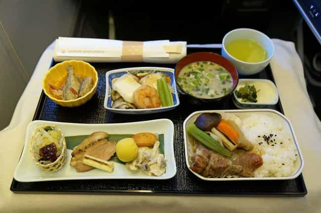 Japan Airlines is listed (or ranked) 2 on the list Here's What Airplane Food Looks Like Around The World