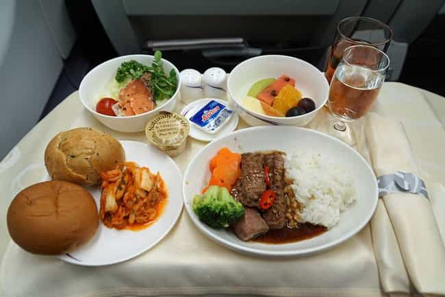 China Airlines is listed (or ranked) 1 on the list Here's What Airplane Food Looks Like Around The World