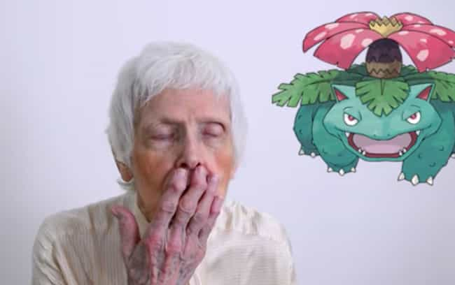 She's Embarrassed At Almos... is listed (or ranked) 4 on the list This 91-Year-Old Grandma Guessing Pokemon Names Is The Most Adorable Thing You'll See All Week
