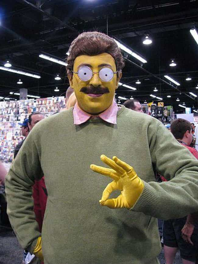 Looking At The Circle Me... is listed (or ranked) 4 on the list These Ned Flanders Costumes Will Give You Endless Nightmares From Which There Is No Escape
