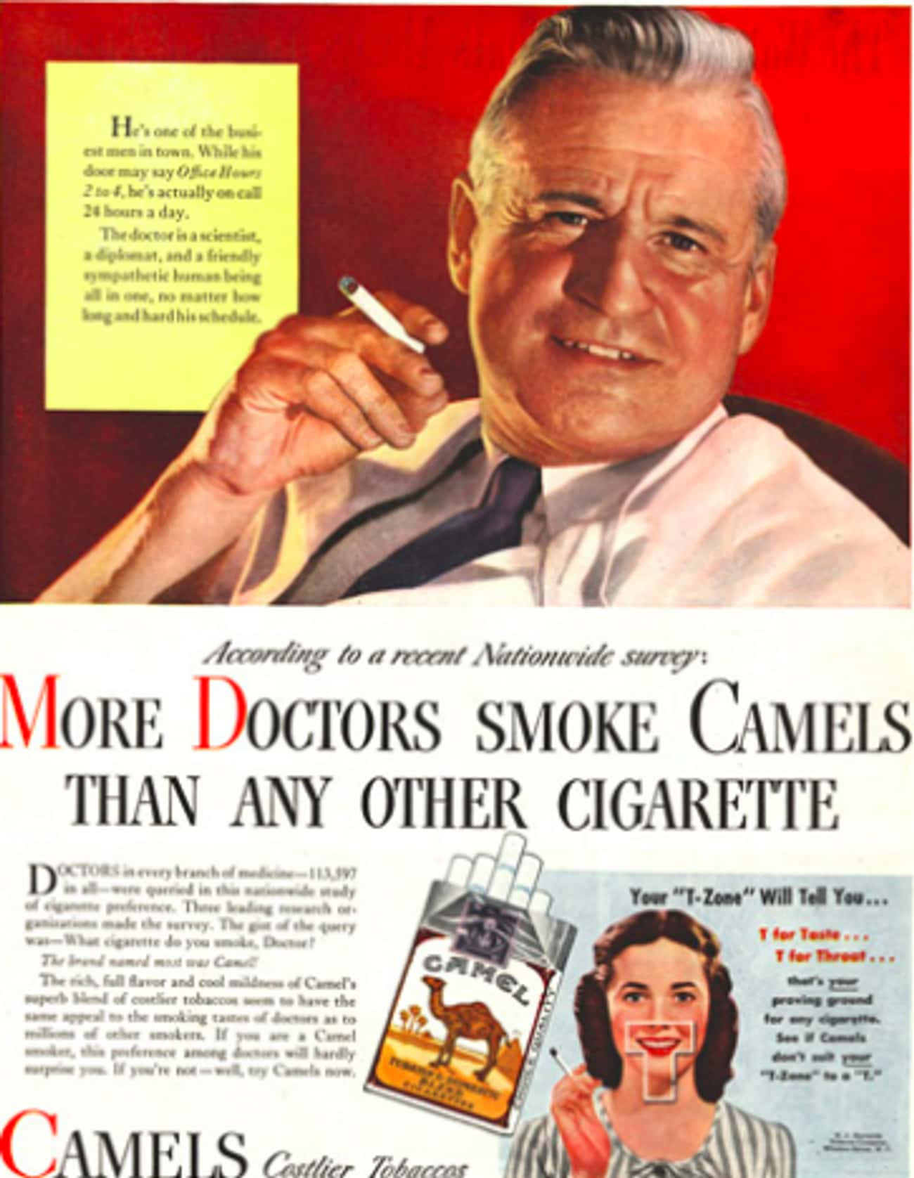 Ads Originally Had Doctors Cla is listed (or ranked) 2 on the list All The Times Cigarette Marketing Came Back From The Dead To Make Cigarettes Even Cooler Than Before