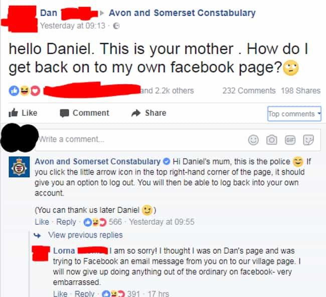 Dan's Mother Needs Help!... is listed (or ranked) 1 on the list Old People Who Gave Using Facebook Their Best Shot, But Really Missed The Mark