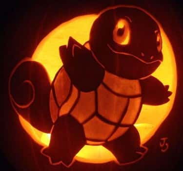 Don't Let This Squirtle's Bubble Attack Put Out The Pumpkin's Flame