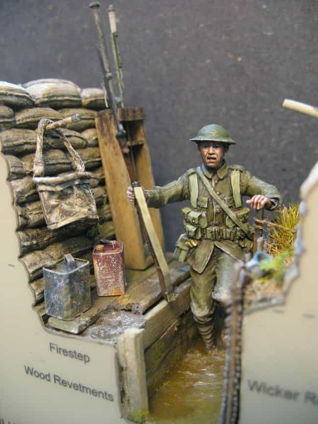 Notice The Detailed Ripp... is listed (or ranked) 4 on the list This Guy Makes Super Detailed Trench Warfare Miniatures And They're Fascinating