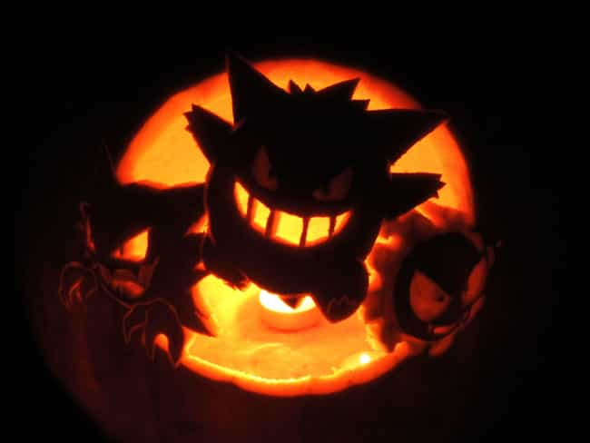 This Pumpkin Is Only A L... is listed (or ranked) 2 on the list 17 Awesomely Nerdy Pokémon Pumpkin Carvings You Can Totally Make At Home