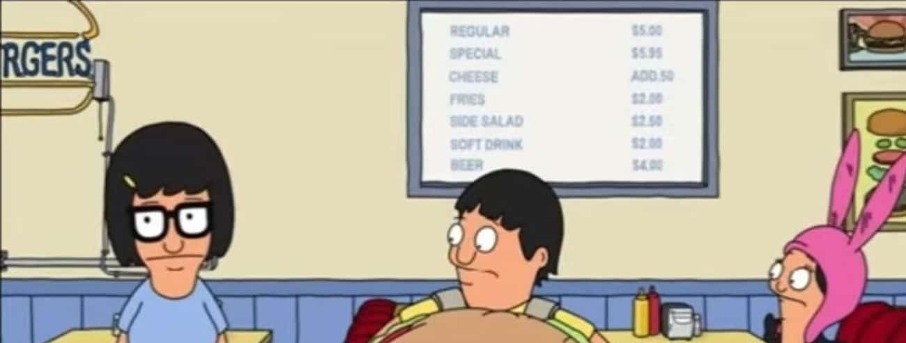 The Entire Menu Has Been Displ is listed (or ranked) 1 on the list This Guy Figured Out Exactly How Much Bob's Burgers Actually Makes, And The Results Are Terrifying