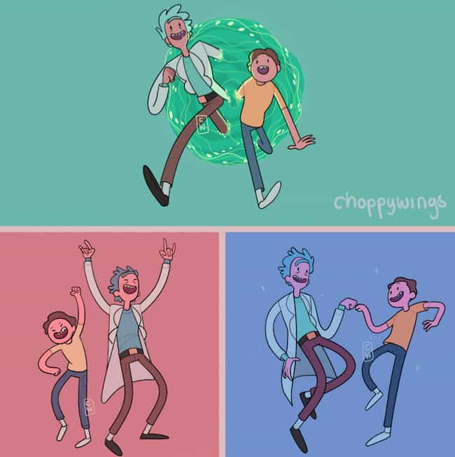Rick And Morty Look So M... is listed (or ranked) 2 on the list These Artists Draw Spectacular Fan Art Of Your Favorite Fictional Characters In Adventure Time Style