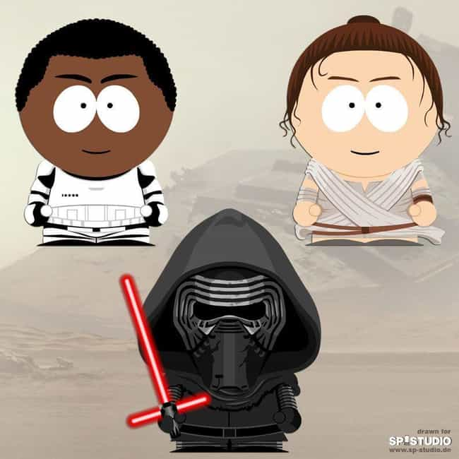 Does Kylo Equal Kyle? is listed (or ranked) 2 on the list These Artists Re-Imagined Your Favorite Pop Culture Figures As South Park Characters