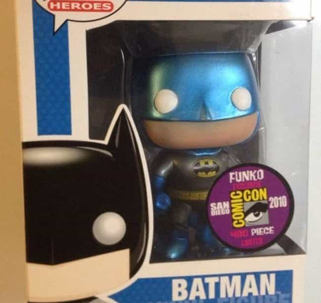 Blue Metallic Batman is listed (or ranked) 2 on the list People Are Spending Absurd Amounts Of Money On The Rarest Funko Pops Of All Time
