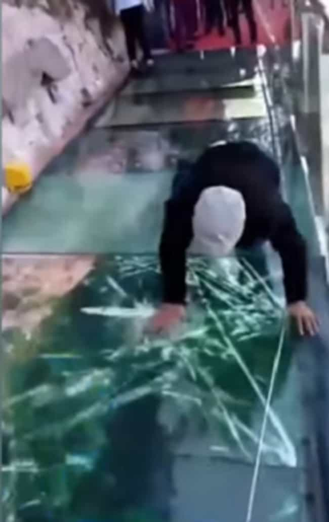 It Happened Again With A... is listed (or ranked) 2 on the list A Terrifying Glass Bridge Leaves Tourists In China Fearing For Their Lives