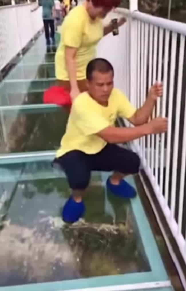 A Group Was Terrified Wh... is listed (or ranked) 1 on the list A Terrifying Glass Bridge Leaves Tourists In China Fearing For Their Lives