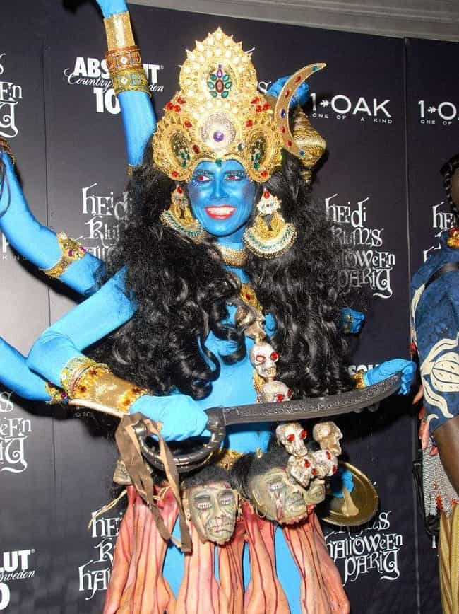 Goddess Kali (2008) is listed (or ranked) 1 on the list All Of Heidi Klum's Best Halloween Costumes Over The Years