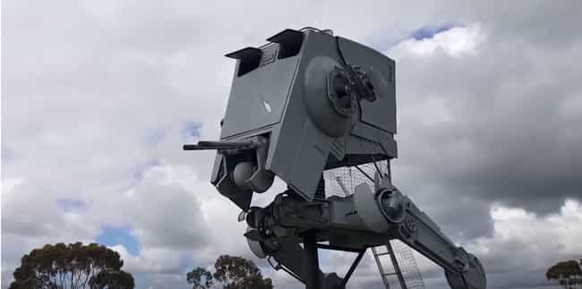 This 27-Foot-Tall AT-ST Is Ful... is listed (or ranked) 1 on the list These Crafty Geniuses Made Their Very Own, Full-Size Star Wars Vehicles