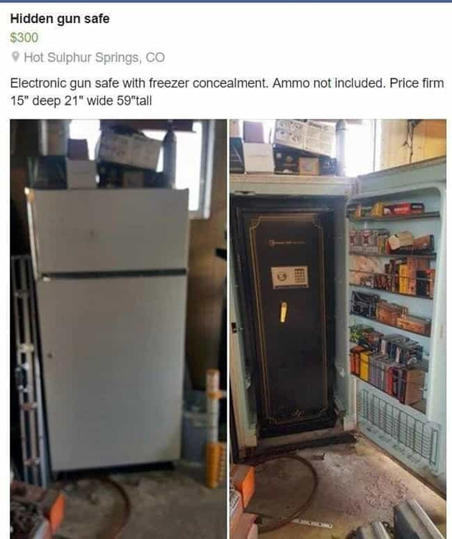 Ice Cold Gun Safe Concea... is listed (or ranked) 2 on the list These Are The Most Genius Redneck Inventions Of 2017