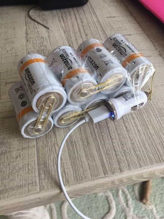MacGyver's Phone Charger... is listed (or ranked) 3 on the list These Are The Most Genius Redneck Inventions Of 2017