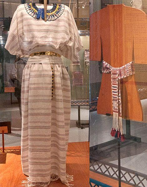 Random Stunning Garments Re-created From Piles Of King Tut's 3,400-Year-Old Laundry