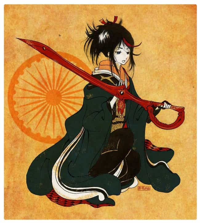 Ryūko Matoi – Kill ... is listed (or ranked) 2 on the list These Artists Reimagine Your Favorite Characters In Gorgeous Traditional Japanese Style