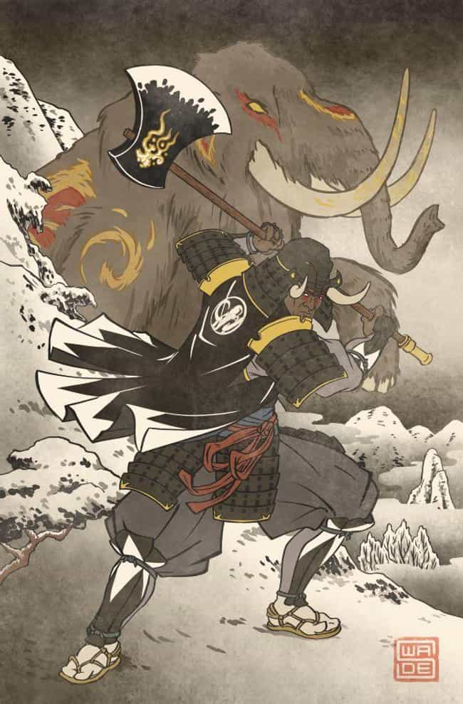 The Black Ranger – ... is listed (or ranked) 1 on the list These Artists Reimagine Your Favorite Characters In Gorgeous Traditional Japanese Style
