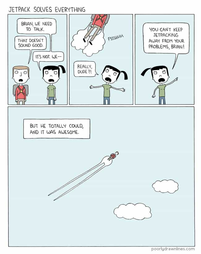 Brian Leaves Again is listed (or ranked) 4 on the list 22 Poorly Drawn Comics With Surprisingly Hilarious Endings