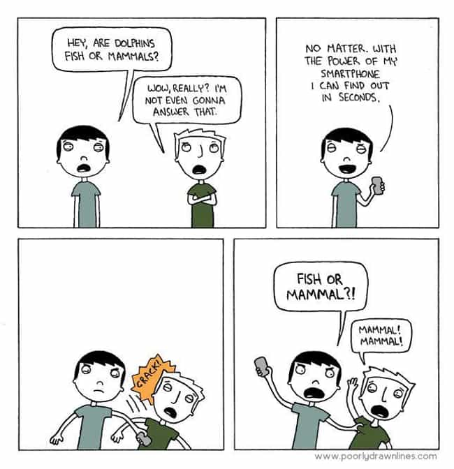 The Power Of Smartphones... is listed (or ranked) 1 on the list 22 Poorly Drawn Comics With Surprisingly Hilarious Endings