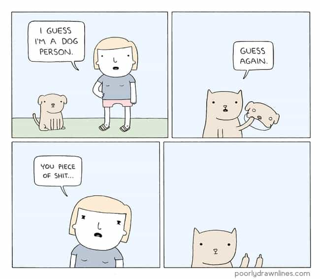 Dog Vs Cat People is listed (or ranked) 2 on the list 22 Poorly Drawn Comics With Surprisingly Hilarious Endings