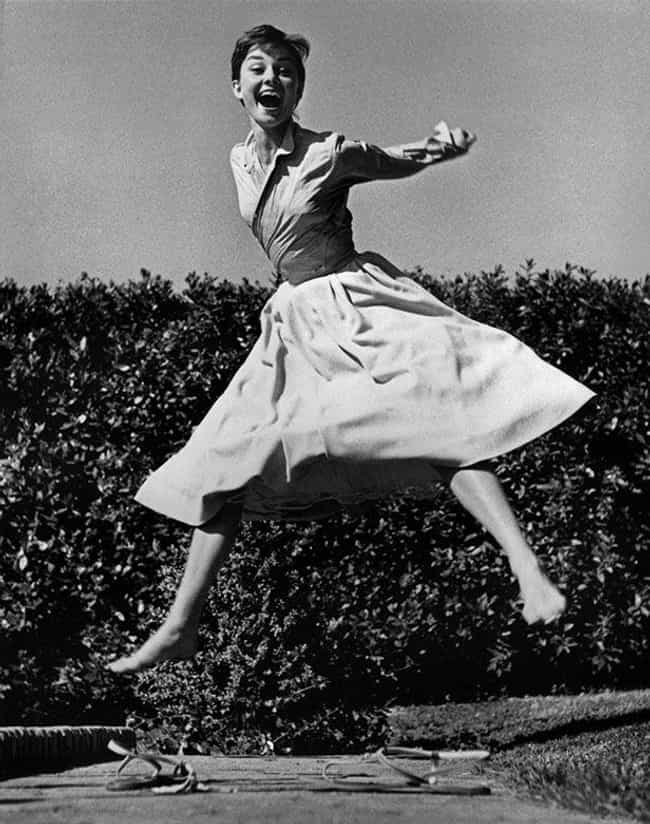 The Elegant, Audrey Hepburn, A... is listed (or ranked) 2 on the list Pictures Of Historical Figures Goofing Off And Having A Nice Time