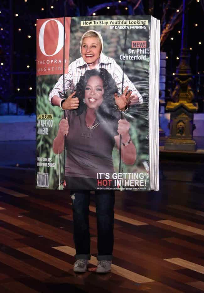 Ellen And Oprah, Just Hanging ... is listed (or ranked) 3 on the list Ellen DeGeneres Is A Halloween Expert - Here Are Her Greatest Costumes Over The Years