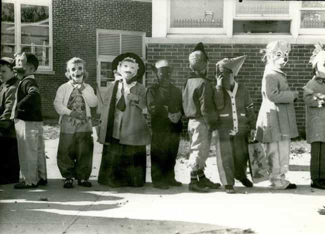 Children Show Off Their ... is listed (or ranked) 2 on the list 16 Photos That Show What Halloween Looked Like In The 1950s