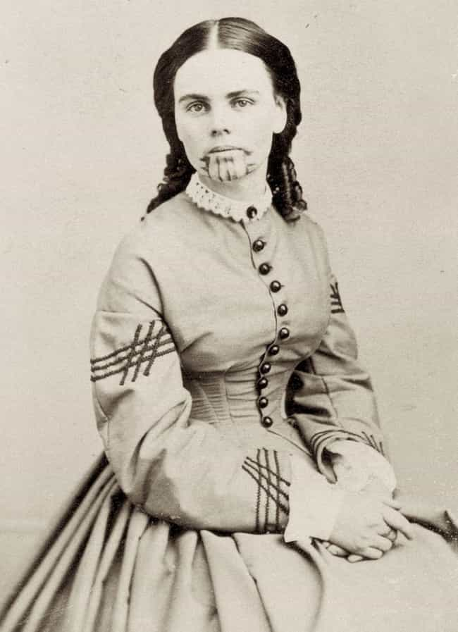 Olive Oatman And Her Younger S... is listed (or ranked) 3 on the list The Fascinating Story Behind The Girl With The Mohave Tattoo
