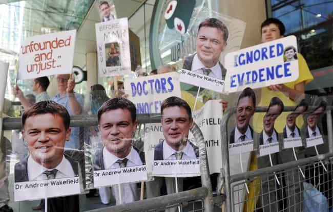 Andrew Wakefield Carried A His... is listed (or ranked) 1 on the list How A Single Discredited Essay Is The Basis Of The Anti-Vaxxing Movement