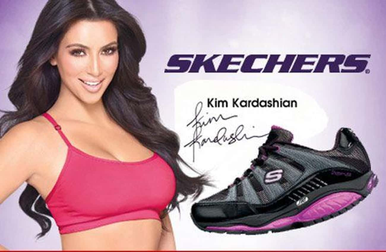 Kim's Sketchers Shape-Ups is listed (or ranked) 2 on the list The All Time Worst And Sketchiest Kardashian Business Ventures
