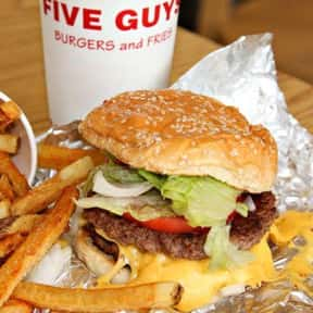 Five Guys Cheeseburger is listed (or ranked) 4 on the list The Best Fast Food Burgers