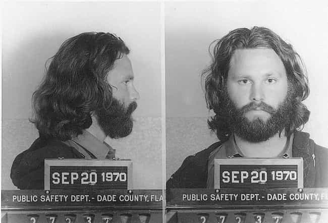 He Was Arrested For A Slew Of ... is listed (or ranked) 1 on the list Wild Jim Morrison Stories, From Riots To Arrests