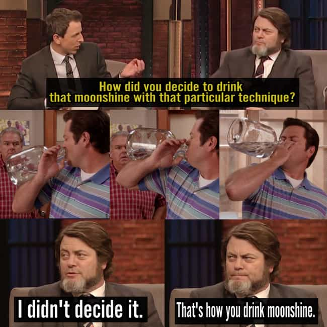 Drinking Lessons At Their Fine... is listed (or ranked) 3 on the list Hilarious Nick Offerman Quotes That Prove He's Basically Ron Swanson