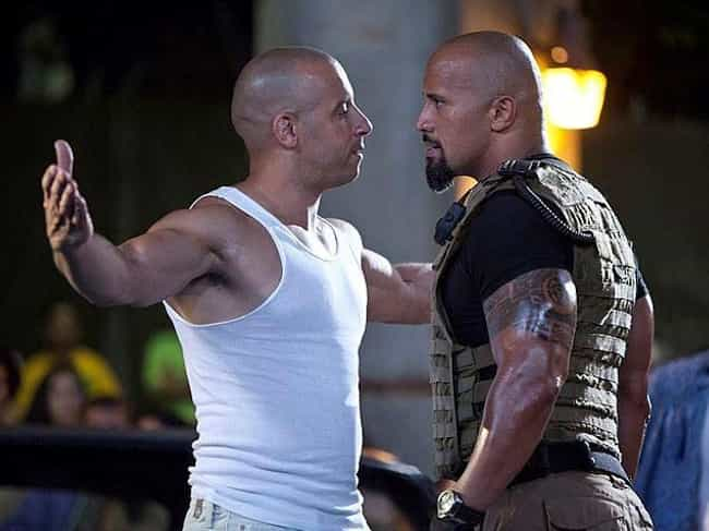Dwayne Johnson And Vin Diesel ... is listed (or ranked) 3 on the list The Hilariously Petty History Of 'Fast And The Furious' Behind-The-Scenes Drama