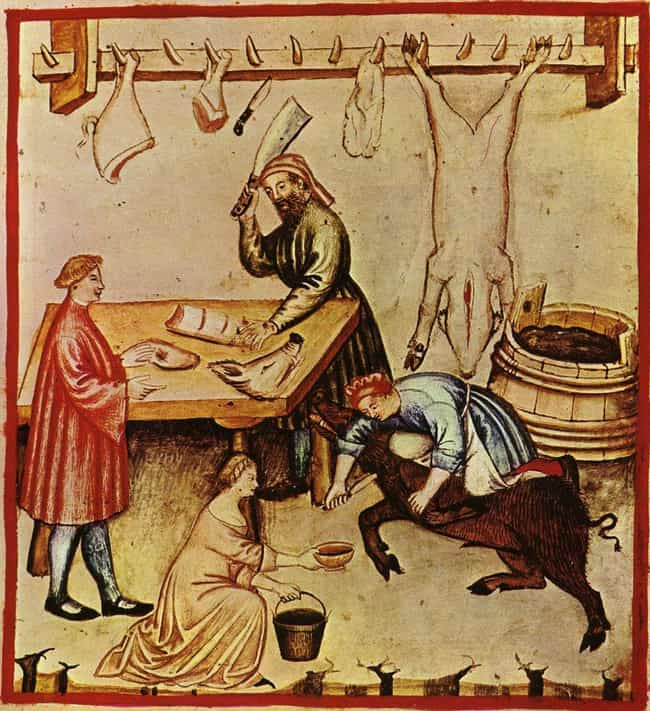 Animals Were Skinned For Meat ... is listed (or ranked) 3 on the list To Make Paper In The Middle Ages, You Had To Skin An Animal And Soak It In Urine