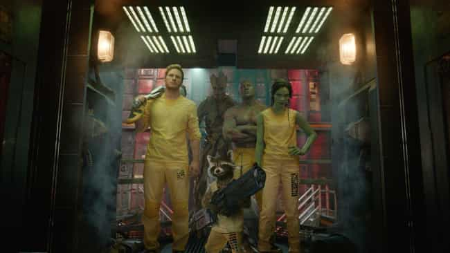Guardians Of The Galaxy ... is listed (or ranked) 3 on the list 10 Seemingly Random Scenes That Prove Exactly Why Marvel Movies Are So Much Better Than DC
