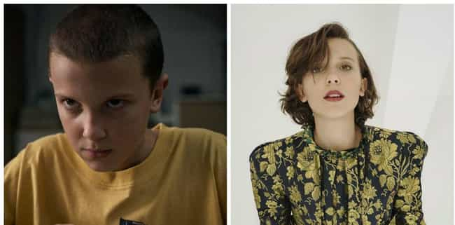 Eleven AKA El, Played By Milli... is listed (or ranked) 2 on the list What The Stranger Things Kids Look Like One Year After The First Season Premiered