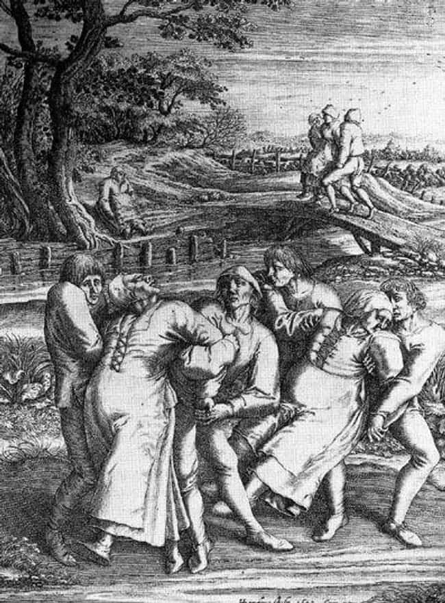 A German Housewife Was The Fir... is listed (or ranked) 1 on the list The Lesser-Known Medieval Plague That Literally Caused People To Dance Themselves To Death