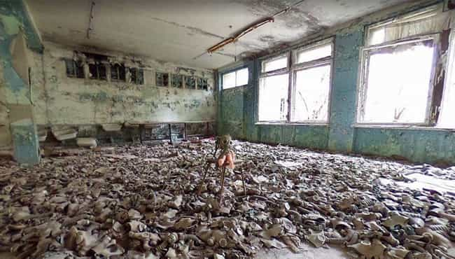 An Abandoned School Filled Wit... is listed (or ranked) 1 on the list The Most Flat-Out Horrifying Places And Images You Can Find On Google Street View