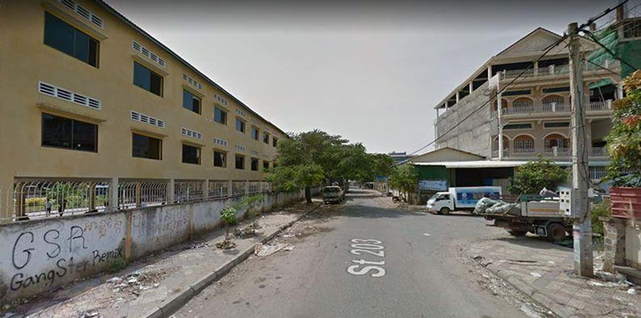 Tuol Svay Pray High School, Ph is listed (or ranked) 2 on the list The Most Flat-Out Horrifying Places And Images You Can Find On Google Street View